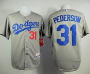 Wholesale Cheap Dodgers #31 Joc Pederson Grey Cool Base Stitched MLB Jersey