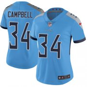 Wholesale Cheap Nike Titans #34 Earl Campbell Light Blue Alternate Women's Stitched NFL Vapor Untouchable Limited Jersey