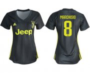 Wholesale Cheap Women's Juventus #8 Marchisio Third Soccer Club Jersey