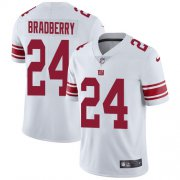 Wholesale Cheap Nike Giants #24 James Bradberry White Men's Stitched NFL Vapor Untouchable Limited Jersey