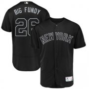 Wholesale Cheap New York Yankees #26 DJ LeMahieu Big Fundy Majestic 2019 Players' Weekend Flex Base Authentic Player Jersey Black