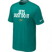 Wholesale Cheap Nike New York Jets Just Do It Green T-Shirt