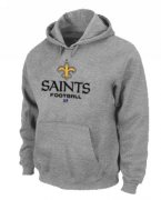 Wholesale Cheap New Orleans Saints Critical Victory Pullover Hoodie Grey