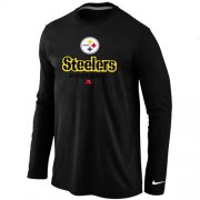 Wholesale Cheap Nike Pittsburgh Steelers Critical Victory Long Sleeve T-Shirt Black