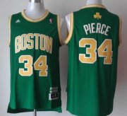 Wholesale Cheap Boston Celtics #34 Paul Pierce Revolution 30 Swingman Green With Gold Jersey
