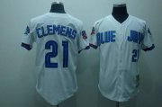 Wholesale Cheap Mitchell And Ness Blue Jays #21 Roger CleMen'stitched White MLB Jersey
