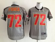 Wholesale Cheap Nike Chiefs #72 Eric Fisher Grey Shadow Men's Stitched NFL Elite Jersey