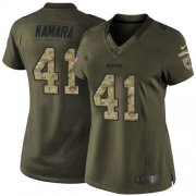 Wholesale Cheap Nike Saints #41 Alvin Kamara Green Women's Stitched NFL Limited 2015 Salute to Service Jersey