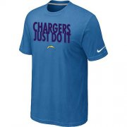 Wholesale Cheap Nike San Diego Chargers Just Do It light Blue T-Shirt