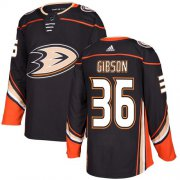 Wholesale Cheap Adidas Ducks #36 John Gibson Black Home Authentic Youth Stitched NHL Jersey