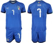 Wholesale Cheap Italy #7 Zaza Home Soccer Country Jersey
