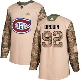 Wholesale Cheap Adidas Canadiens #92 Jonathan Drouin Camo Authentic 2017 Veterans Day Stitched Youth NHL Jersey