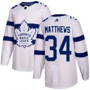 Wholesale Cheap Adidas Maple Leafs #34 Auston Matthews White Authentic 2018 Stadium Series Stitched Youth NHL Jersey