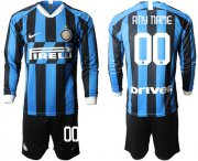 Wholesale Inter Milan Personalized Home Long Sleeves Soccer Club Jersey