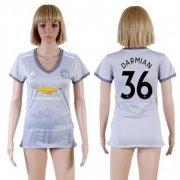 Wholesale Cheap Women's Manchester United #36 Darmian Sec Away Soccer Club Jersey