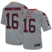 Wholesale Cheap Nike 49ers #16 Joe Montana Lights Out Grey Youth Stitched NFL Elite Jersey