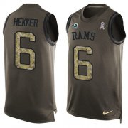Wholesale Cheap Nike Rams #6 Johnny Hekker Green Men's Stitched NFL Limited Salute To Service Tank Top Jersey