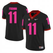 Wholesale Cheap Georgia Bulldogs 11 Jake Fromm Black Breast Cancer Awareness College Football Jersey