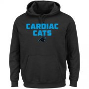 Wholesale Cheap Men's Carolina Panthers Majestic Black Hot Phrase Pullover Hoodie