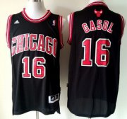 Wholesale Cheap Chicago Bulls #16 Pau Gasol Revolution 30 Swingman Black Jersey
