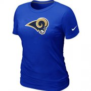 Wholesale Cheap Women's Nike Los Angeles Rams Logo NFL T-Shirt Blue