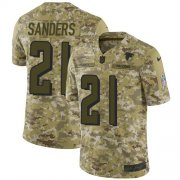 Wholesale Cheap Nike Falcons #21 Deion Sanders Camo Men's Stitched NFL Limited 2018 Salute To Service Jersey