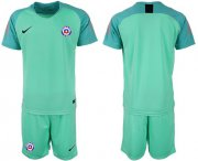 Wholesale Cheap Chile Blank Green Goalkeeper Soccer Country Jersey