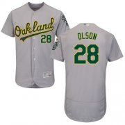 Wholesale Cheap Athletics #28 Matt Olson Grey Flexbase Authentic Collection Stitched MLB Jersey