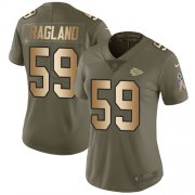 Wholesale Cheap Nike Chiefs #59 Reggie Ragland Olive/Gold Women's Stitched NFL Limited 2017 Salute to Service Jersey