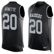 Wholesale Cheap Nike Raiders #20 Damon Arnette Black Team Color Men's Stitched NFL Limited Tank Top Jersey