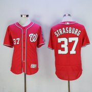 Wholesale Nationals #37 Stephen Strasburg Red Flexbase Authentic Collection Stitched Baseball Jersey