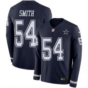 Wholesale Cheap Nike Cowboys #54 Jaylon Smith Navy Blue Team Color Men's Stitched NFL Limited Therma Long Sleeve Jersey