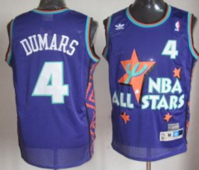 Wholesale Cheap NBA 1995 All-Star #4 Joe Dumars Purple Swingman Throwback Jersey