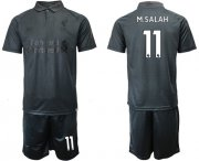 Wholesale Cheap Liverpool #11 M.Salah Black Soccer Club Jersey