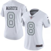 Wholesale Cheap Nike Raiders #8 Marcus Mariota White Women's Stitched NFL Limited Rush Jersey