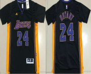 Wholesale Cheap Men's Los Angeles Lakers #24 Kobe Bryant Revolution 30 AU New Black Short-Sleeved Jersey
