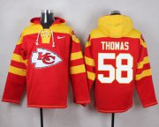 Wholesale Cheap Nike Chiefs #58 Derrick Thomas Red Player Pullover NFL Hoodie