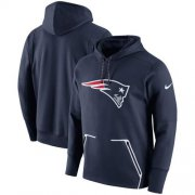 Wholesale Cheap Men's New England Patriots Nike Navy Champ Drive Vapor Speed Performance Pullover Hoodie