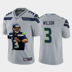 Cheap Seattle Seahawks #3 Russell Wilson Nike Team Hero 1 Vapor Limited NFL Jersey Grey