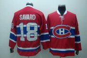 Wholesale Cheap Canadiens #18 Serge Savard Stitched Red CH CCM Throwback NHL Jersey