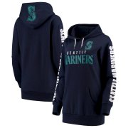 Wholesale Cheap Seattle Mariners G-III 4Her by Carl Banks Women's Extra Innings Pullover Hoodie Navy