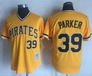 Wholesale Cheap Mitchell and Ness Pirates #39 Dave Parker Stitched Yellow Throwback MLB Jersey