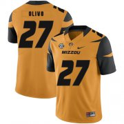 Wholesale Cheap Missouri Tigers 27 Brock Olivo Gold Nike College Football Jersey