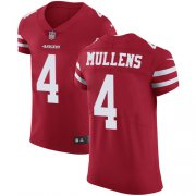 Wholesale Cheap Nike 49ers #4 Nick Mullens Red Team Color Men's Stitched NFL Vapor Untouchable Elite Jersey