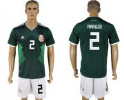 Wholesale Cheap Mexico #2 Araujo Green Home Soccer Country Jersey