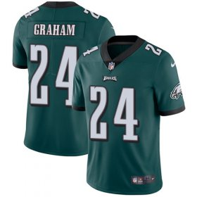 Wholesale Nike Eagles #12 Randall Cunningham Green Men\'s Stitched NFL Limited Rush Jersey
