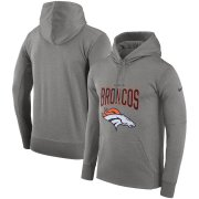 Wholesale Cheap Denver Broncos Nike Sideline Property of Performance Pullover Hoodie Gray
