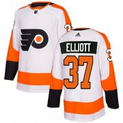 Wholesale Cheap Adidas Flyers #37 Brian Elliott White Road Authentic Stitched Youth NHL Jersey