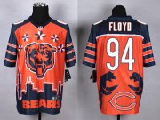 Wholesale Nike Bears #94 Leonard Floyd Orange Men's Stitched NFL Elite Noble Fashion Jersey