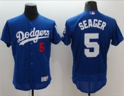 Wholesale Cheap Dodgers #5 Corey Seager Blue Flexbase Authentic Collection Stitched MLB Jersey